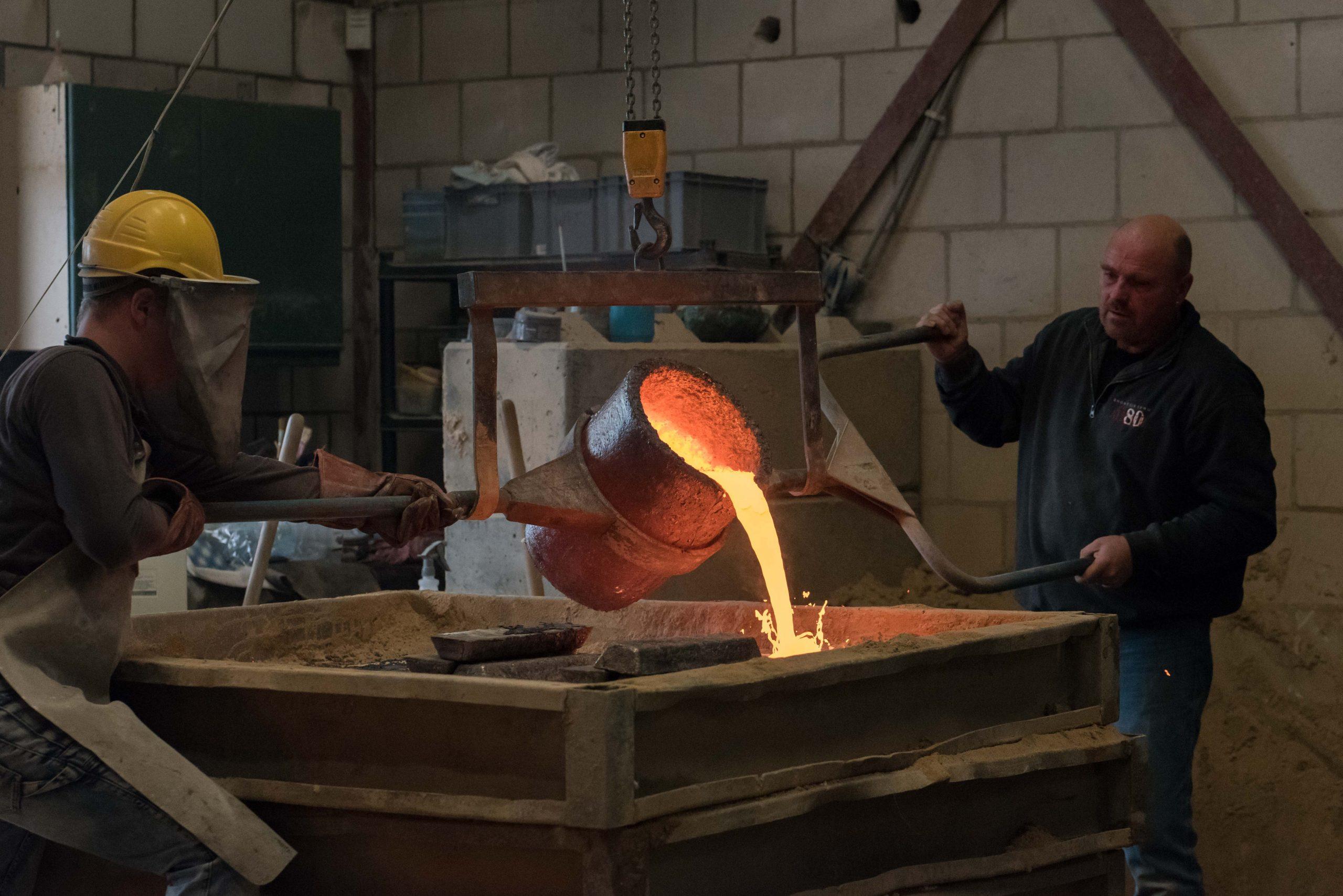 Bronsgieterij Atelier 80 giet het bronzen beeld Inspiratie van Maïté Duval