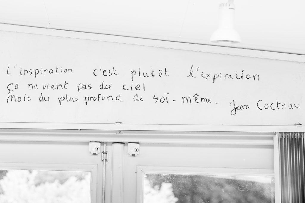 Citaat over inspiratie van Jean Cocteau